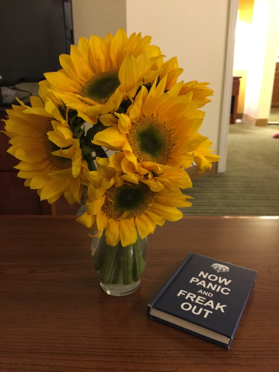 Cole's coffee table book. My sunflowers.